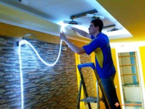 замена ламп освещения
